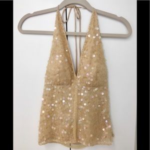 Gorgeous Venus USA 🇺🇸 sequin halter top! ✨